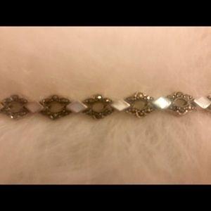 Sterling Silver .925 Bracelet w/Beautiful Stones
